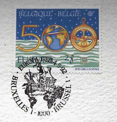Timbres Belgique Edition Limitée: 500ieme Anniv. de la Découverte de L'Amérique