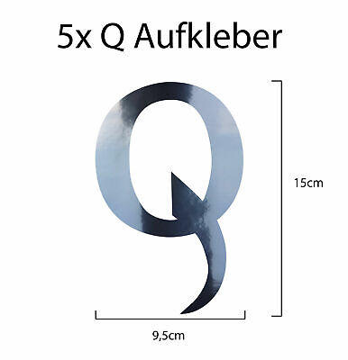 5 X #QANON Sticker Aufkleber ca. 20x20 cm Trump 17 Q Anon Chrom WWG1WGA