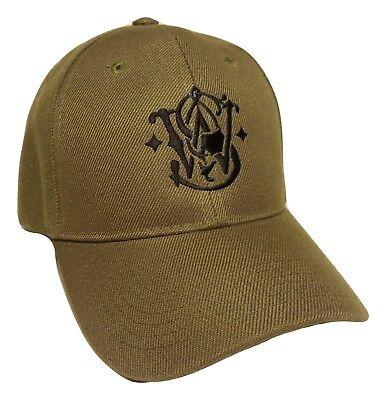 Smith Wesson Baseball Hat Olive Green Adjustable OSFM PreCurved Baseball Cap