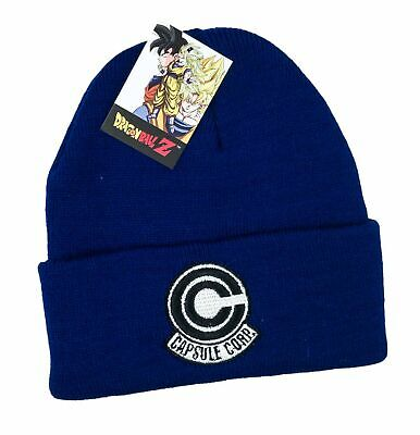 Loot Crate Exclusive October 2018 Dragon Ball Z Capsule Corp Blue Beanie