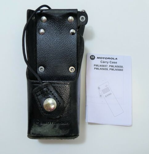 "OEM Motorola NTN8385B Swivel Leather Case For XTS 3000 3500 5000 2.5"" Belt Loop"
