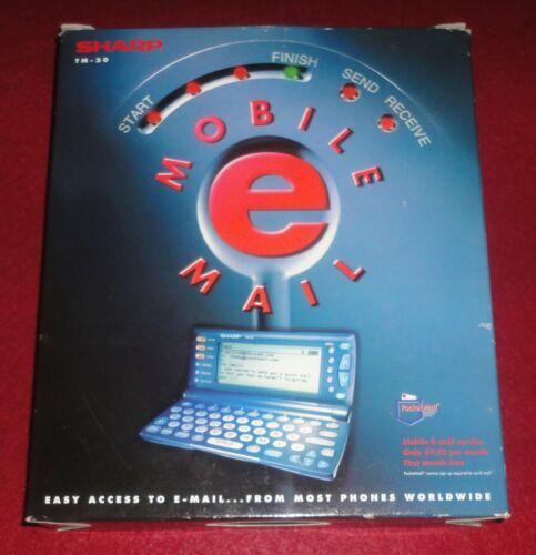 1998 SHARP TM-20 MOBILE MAIL with Original Box Pocket E-Mail Computer Device