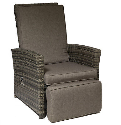 Relaxsessel Loungesessel Rattansessel Polyrattan Garten-Sessel inklusive Auflage
