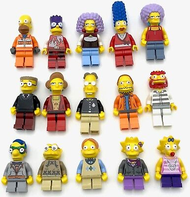 Lego Nuovo Simpson Minifigs Homer Bart Marge Lisa Town Città più You Afferra ()