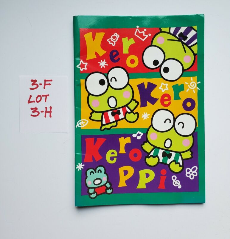 Vintage Sanrio Keroppi 1995 Collectible Notebook