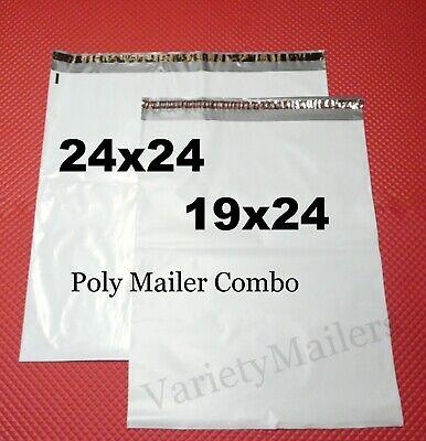 3 Extra Large Poly Bag Mailer Combo 1 24x24 2 19x24 Self-sealing Envelopes