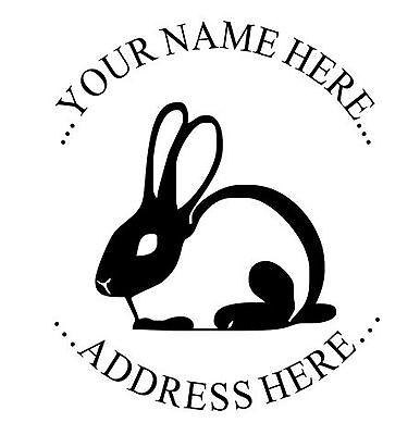 Custom Round Unmounted Rabbit Logo Stamp For Self Inking Rubber Stamp 1 58 Dia