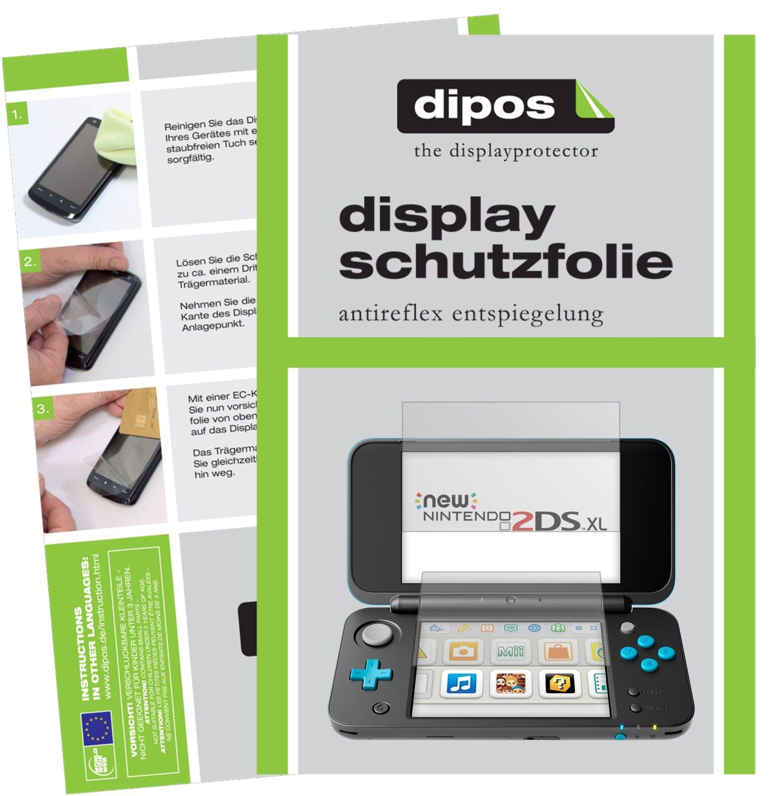 2x Nintendo 2DS XL Schutzfolie matt Displayschutzfolie Folie Display Schutz