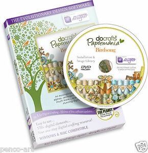Docrafts Papermania Birdsong CD Rom DVD scrapbook & card making Bird Song