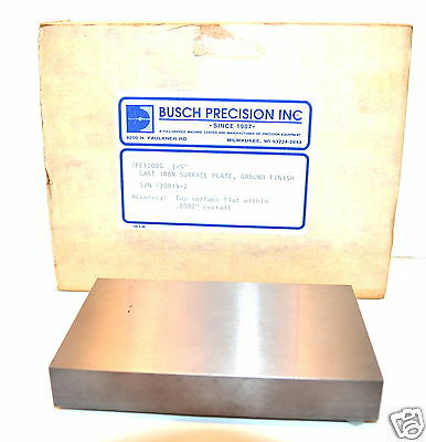 Nos Busch Precision Usa Toolmakers 3x5 Cast Iron Surface Plate Pe100g 370