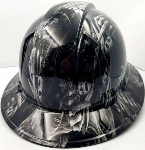 Hard Hat custom hydro dipped , OSHA approved FULL BRIM ,FTW GRIM REAPER UP YOURS 3