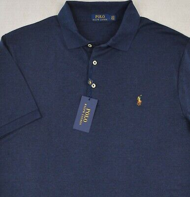 Soft Spring - Polo Ralph Lauren Shirt Soft Touch Spring Navy Polo 2XB 2XLT 2X NWT $98