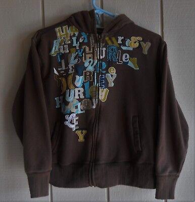 "Womens S Hurley Embellished Long Sleeve Zip Front Sweat Hoodie Jacket Bust 40"""