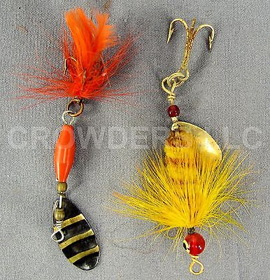 Vintage Bait Lure 1.5 Abu Garcia Spinnaren Reflex & 1.5 Brown/Gold Fly Fishing