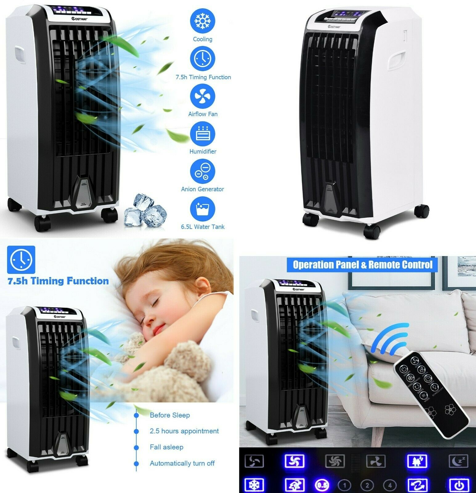 Arctic Cooler Air Cooler Portable Fan Evaporative Air Condit