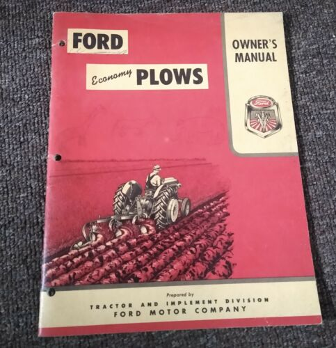 "1950s? FORD ""ECONOMY PLOWS"" OPERATOR"