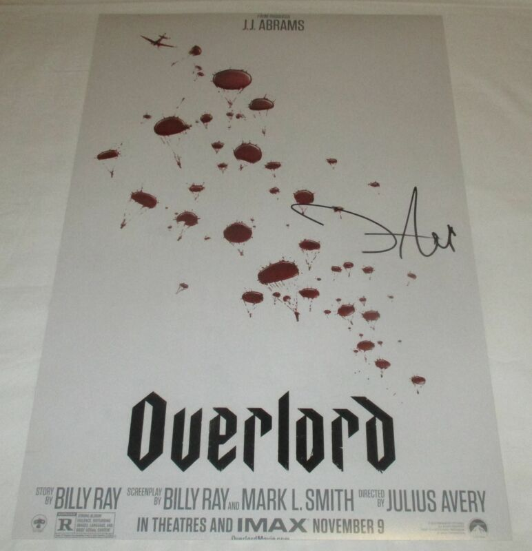 JOVAN ADEPO SIGNED OVERLORD 12X18 MOVIE POSTER 3