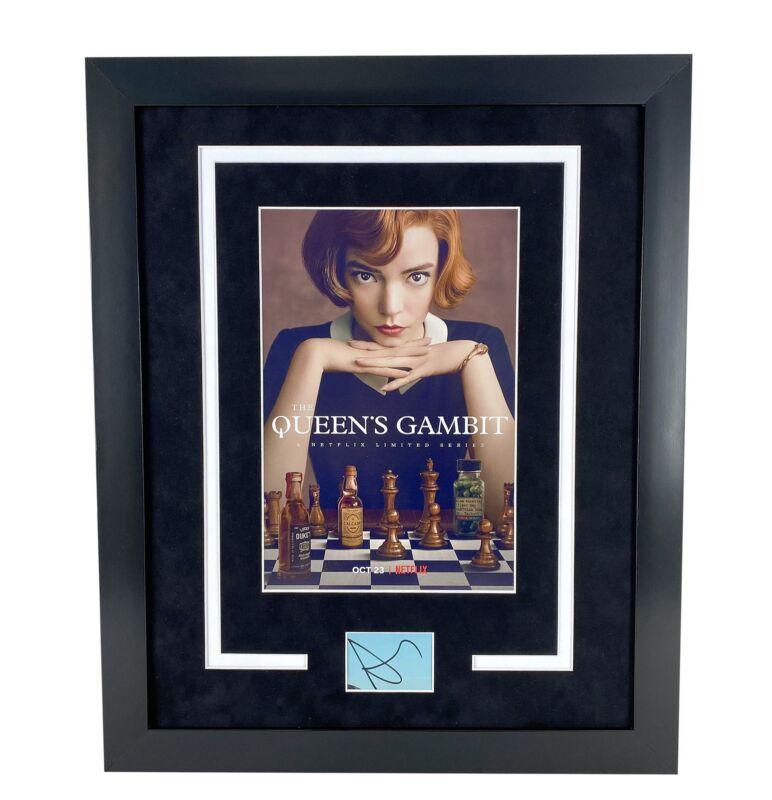 Queen's Gambit Anya Taylor-Joy Autograph Signed 16x20 Framed Photo Display ACOA