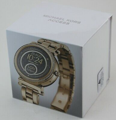 AUTHENTIC MICHAEL KORS SOFIE GOLD ACCESS SMARTWATCH TOUCH SCREEN MKT5021 WATCH