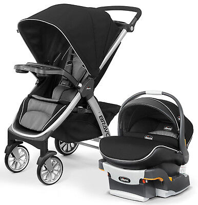 Chicco Bravo Air Stroller w/ KeyFit 30 Zip Car Seat Travel System Q Collection Chicco Strollers Car Seats