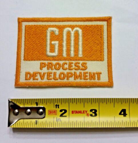 VINTAGE Embroidered Automotive Gasoline Patch UNUSED - GM PROCESS General Motors