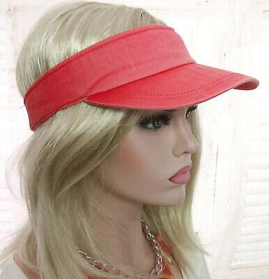 WASHED VISOR CAP Sonnenblende Krempe Kappe schild UV-schutz Farbverlauf KORALLE