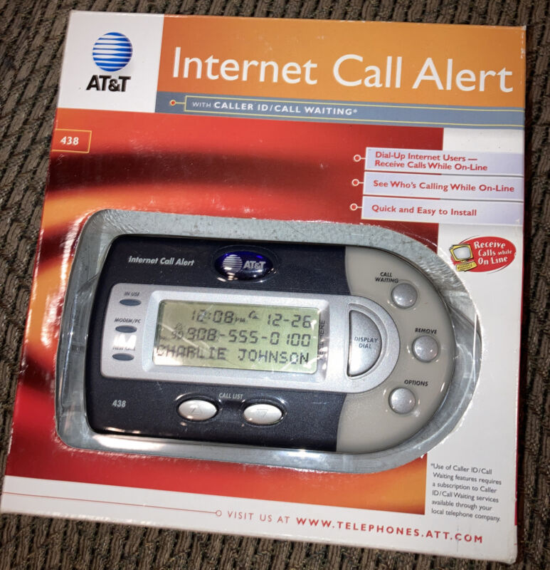 ATT 438 Internet Call Alert - New Factory Sealed - Free Shipping