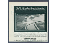 1968 TRIUMPH TR-250 RACE CAR /& GROUP 44 /& BOB TULLIUS REPLICA METAL SIGN