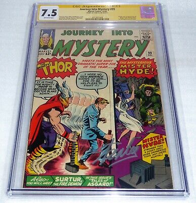 Journey Into Mystery #99 CGC SS Signature Autograph STAN LEE 7.5 Origin and 1st
