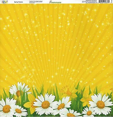Reminisce - Spring Flowers Scrapbooking Paper 05679 - Daisy Easter Jonquil](Easter Paper)