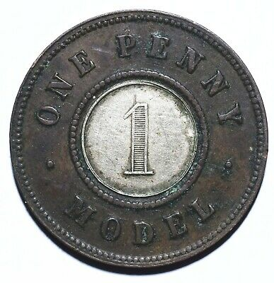 1844 UK One 1 Penny - Victoria Model - Lot 356