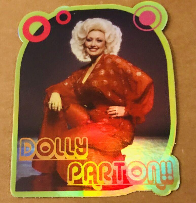 "DOLLY PARTON 3X3.5"" HOLO-DECAL/STICKER *NICE!* Custom Vintage/Retro 70's Design!"
