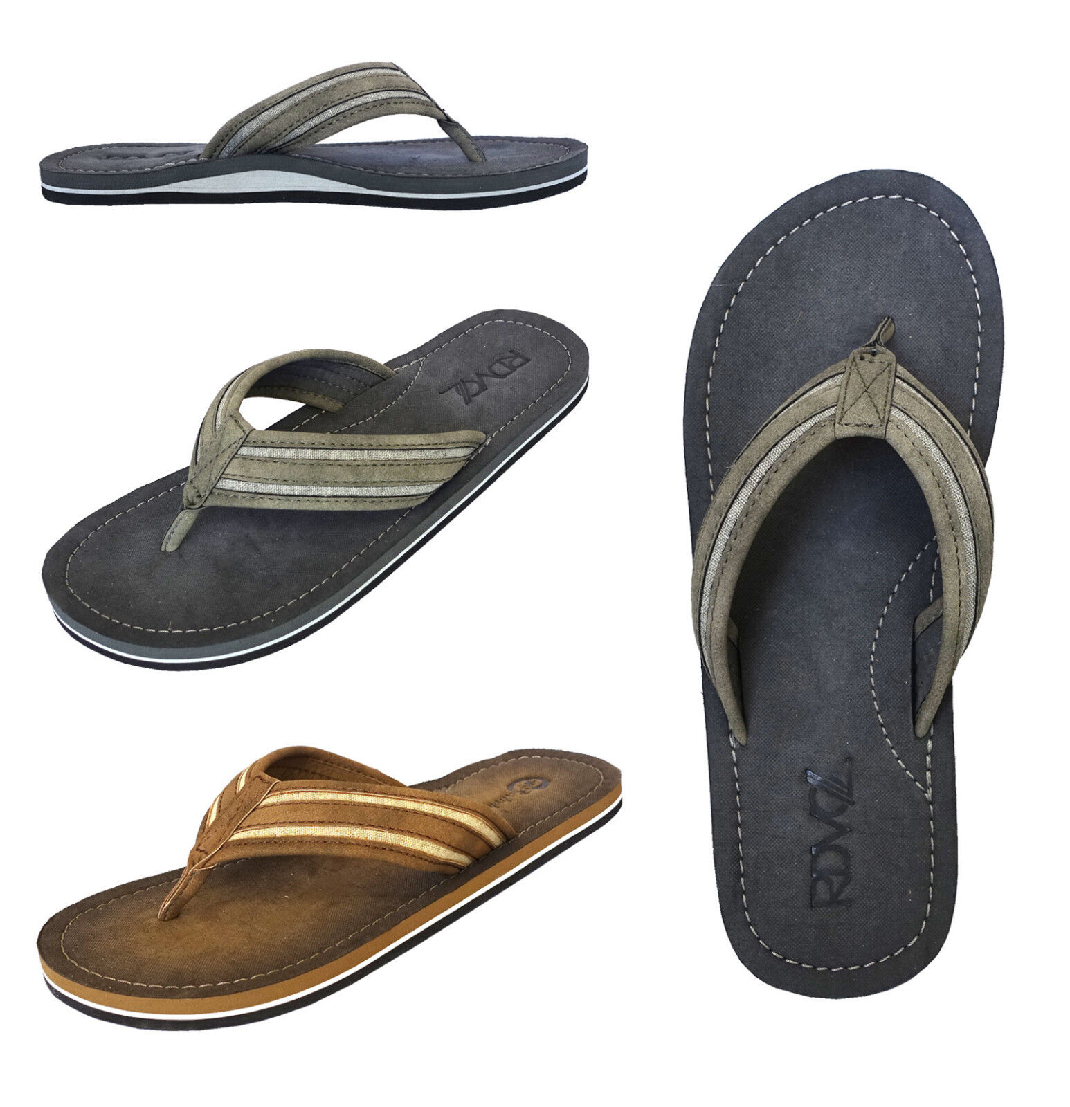 3ed002950 Wholesale Lot Men amp  039 s Sandals RDVOL Casual Beach Fli.. in ...