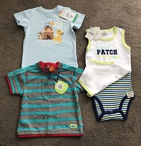 NEW size 0 6-12m BULK BABY BOYS CLOTHES LION KING PATCH TOP ONESIE 4pc