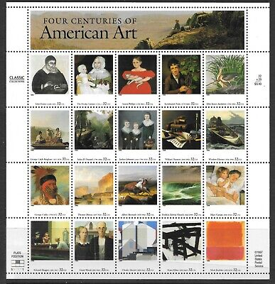 U.S. SC 3236 AMERICAN ART S/S MNH - $6.40