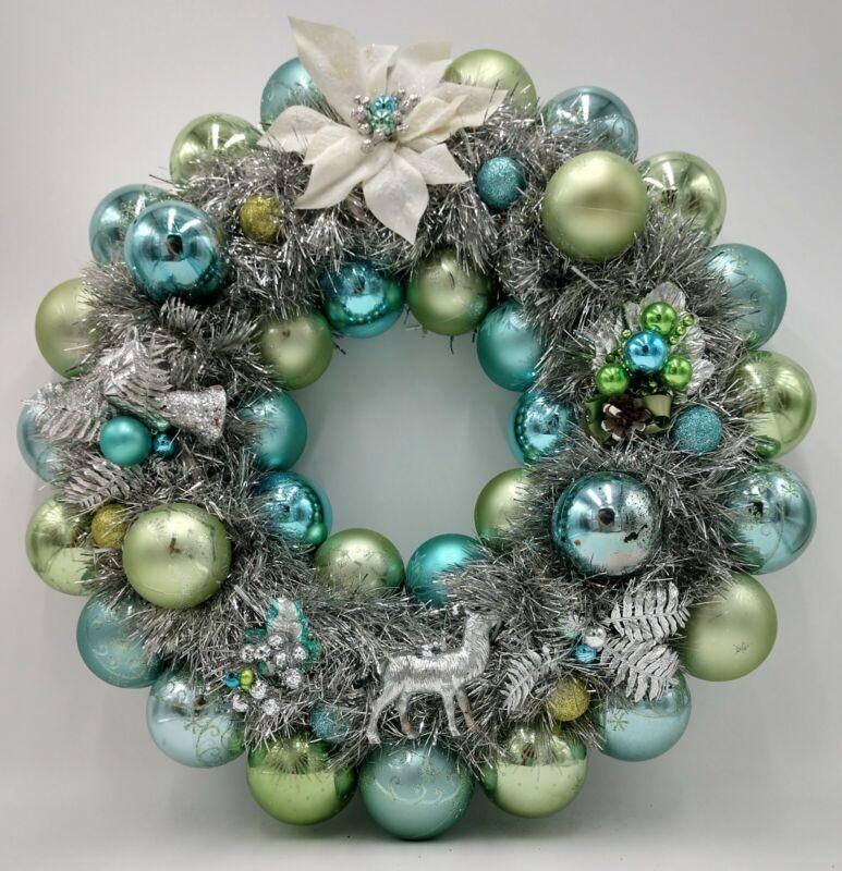 Tarnished Twilight Twinkle Christmas Ornament Wreath