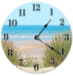 BEACH DUNES CLOCK Large 10.5 inch Wall Clock BEACH DECOR, BEACH CLOCK - 2130