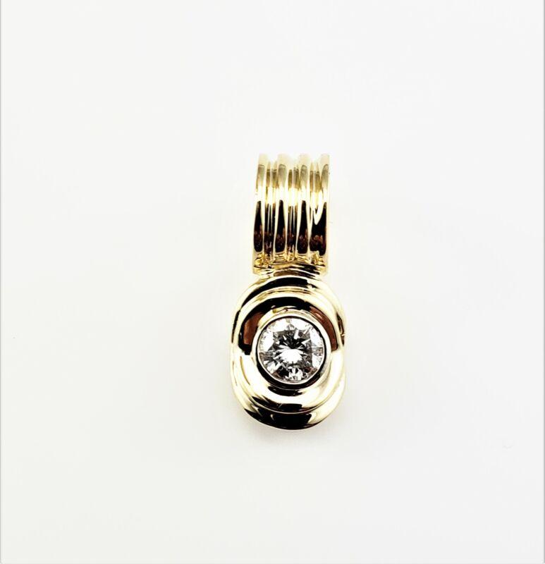 Vintage 14 Karat Yellow Gold Diamond Pendant #8164