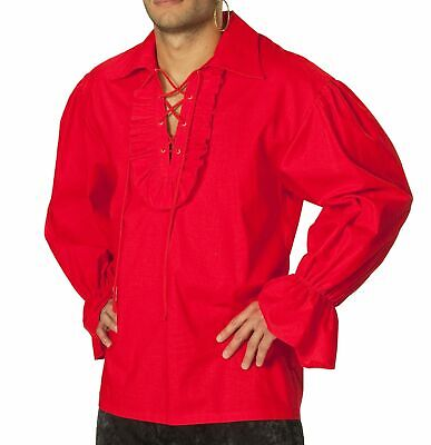irat Spanier Vampir Piratenhemd Gr.50 52 Karneval Fasching (Rotes Piraten-kostüm)