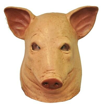 Pig Mask Face Head Adult Halloween Severed Horror Full Latex Scary Creepy Bloody](Scary Pig Halloween Mask)