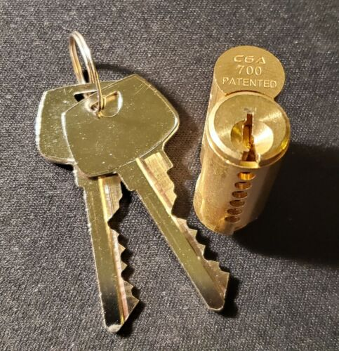 ABUS 83070 Series 83/45 S2 #700 Brass Cylinder Core With 2 Keys, Sargent® Keyway