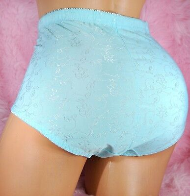 (shiny HIGH CUT embroidered NYLON sissy 8 colors girdle briefs panties L XL 2X 4X)