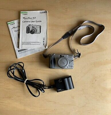 Canon PowerShot G3 4.0MP Digital Camera - Silver With Battery & Charger Works!