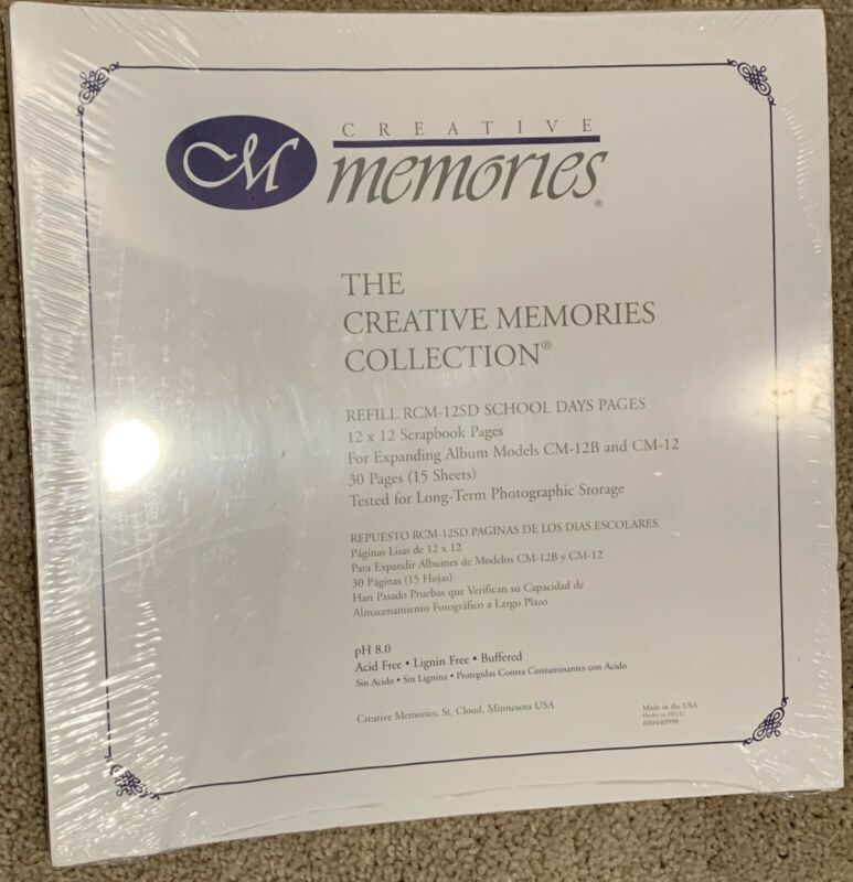 CREATIVE MEMORIES 12 X 12 PAGE PROTECTORS OLD STYLE NEW & SEALED