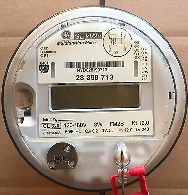 Ge General Electric Watthour Meter Kwh Kvkv2c Fm2s 3w 120-240v 200 Or 320a