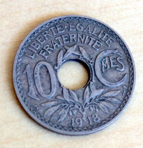 1918 France 10 Centimes WWI Coin