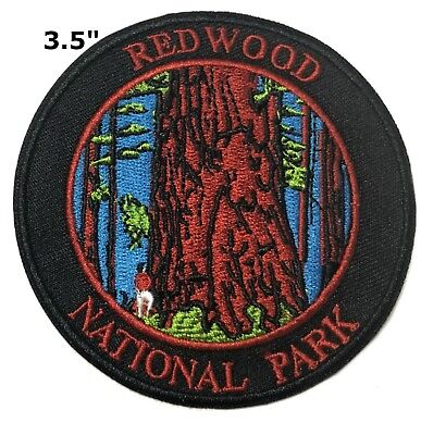 46bc81e47a8762 Explore Redwood National Park Patch Iron / Sew-On Embroidered Souvenir  Travel