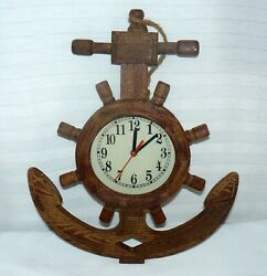 Wood Anchor Wall Clock Hanging Decoration 17 Big Time Piece
