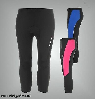 Ladies Branded Muddyfox Lined Inner Cycle Padded Capris Cycling Shorts Size 6-20 ()
