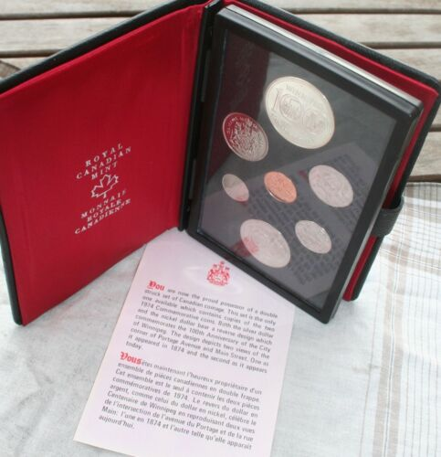 1974 Double Struck Set of Canada Coins - Royal Canadian Mint w/ 2  $1 Coins